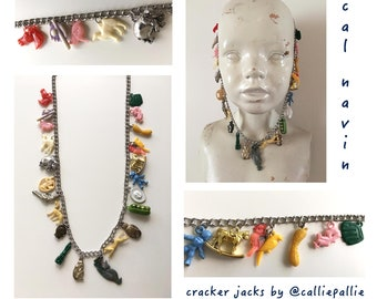 Cracker Jack Necklace Collectables Vintage 1920's-1950's Fashion Charms Prizes