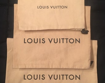 Authentic Louis Vuitton Drawstring Dust Bag Purse/Shoe 1 Sizes To Choose From