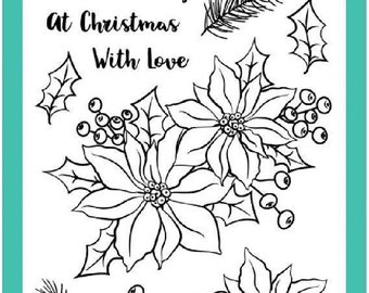 Avery Elle Photopolymer Stamp Holiday Bouquet