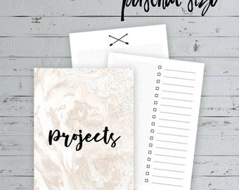 PERSONAL SIZE  >>  Project Planning/Productivity Inserts  >>  Customizeable Cover  >>  Traveler's Notebook Insert  >>  Personal Size Inserts