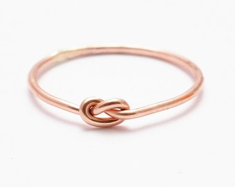 Rose Gold Knot Ring: BFF Friendship Ring