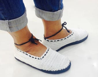 Crochet - Babette shoes with rubber sole