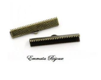 bronze metal 8 clasps claw 35 x 6 mm