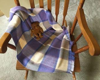 Handwoven cotton baby blanket