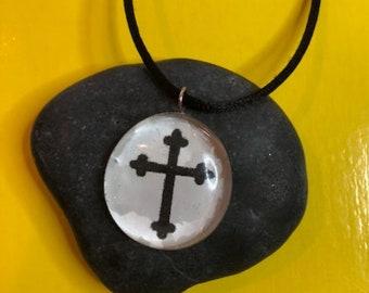 Cross Necklace, Soldered Cross Necklace, Solder Cross, Handmade