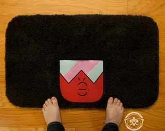 Steven Universe Bath Mat or Rug - Garnet - Embroidered Geeky Bathroom or Kitchen Decor