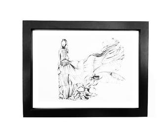 Chiara • Fashion Illustration | Glicée Art Print | Wall Art | Fashion Art