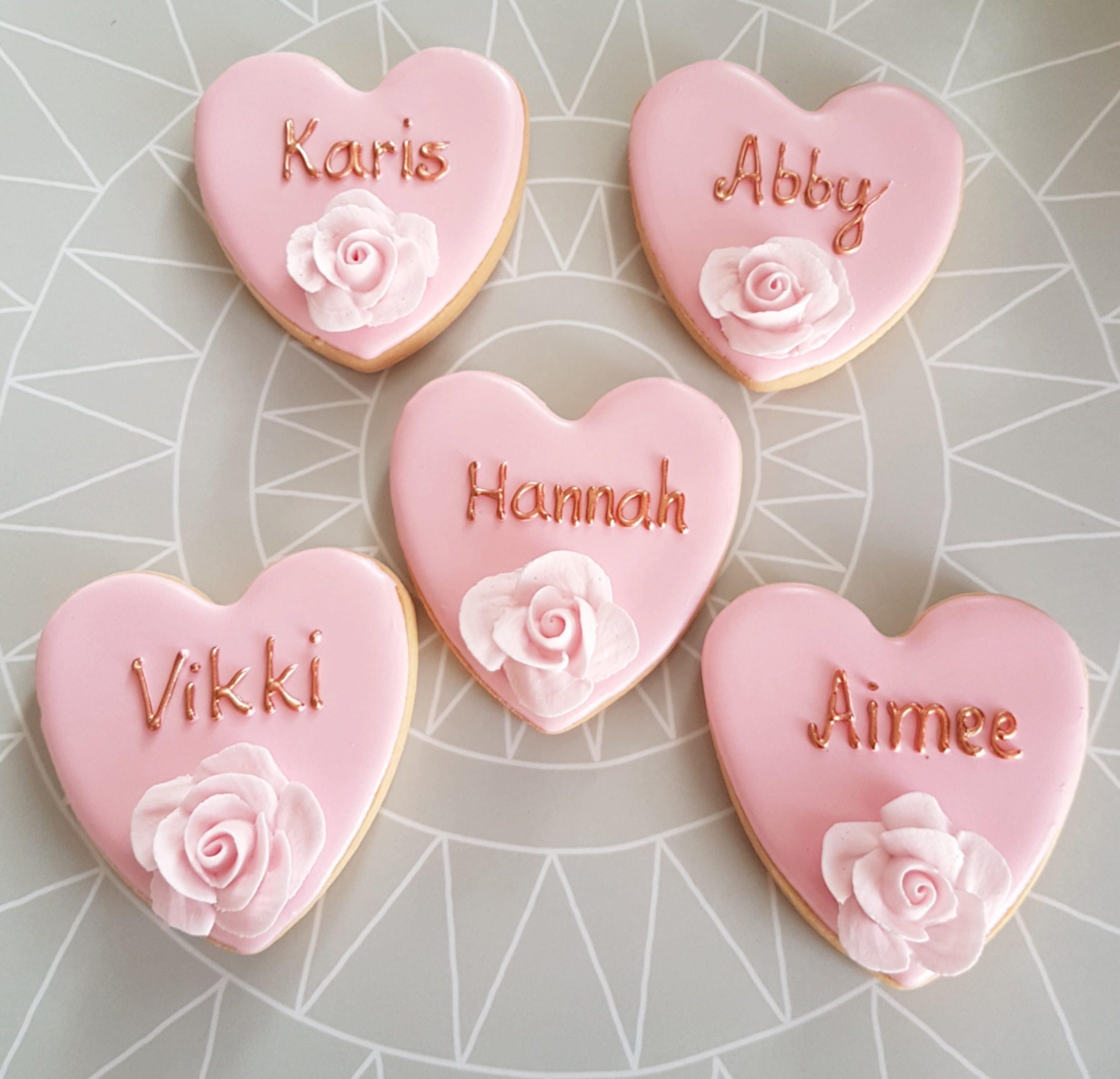 10 Personalised Wedding cookies / 10 Wedding biscuits /