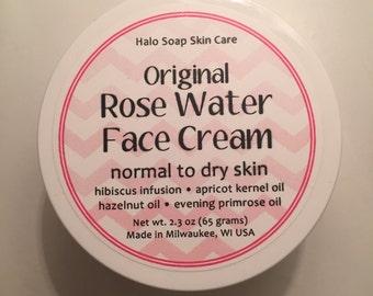 Rose Water Face Cream - Day Cream for Dry Skin - Night Cream