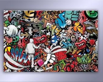 Abstract Graffiti canvas decor
