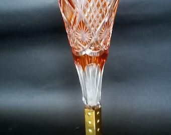 Val-St- Lambert ,vase Scheffel in copper base - 1908