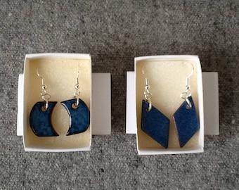 Handmade ceramic drop earrings