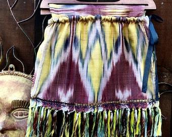 Bohemian Sac Bag, OOAK Handbag, Up cycled Bag, Top Handle Fabric Bag, Bohemian Handbag, Gypsy Bag