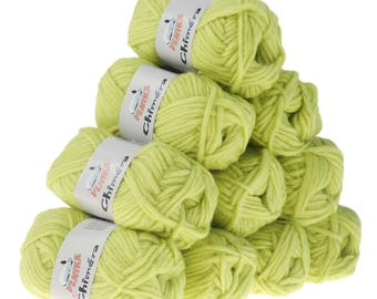 10 x 50g wool CHIMERA #436 lemon, wool for knitted felt