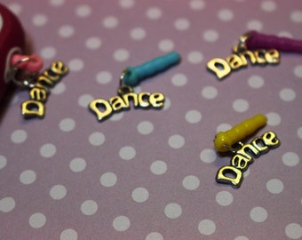 Team Birthday Party Recital Competition Gift Cell Phone Dust Plugs 6pk in DANCE