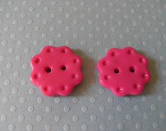 Polymer clay flower shaped buttons