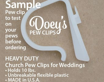 Church Pew Clips HEAVY DUTY Wedding Pew Decorations Mason jars, bows, tulle, kissing balls, pomanders, aisle markers, Doey Pew Clips 1.16 ea