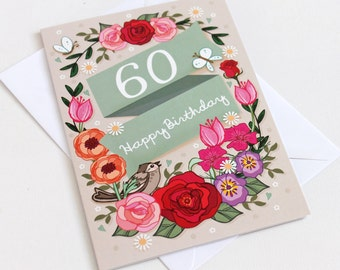 60th birthday card etsy bookmarktalkfo Image collections
