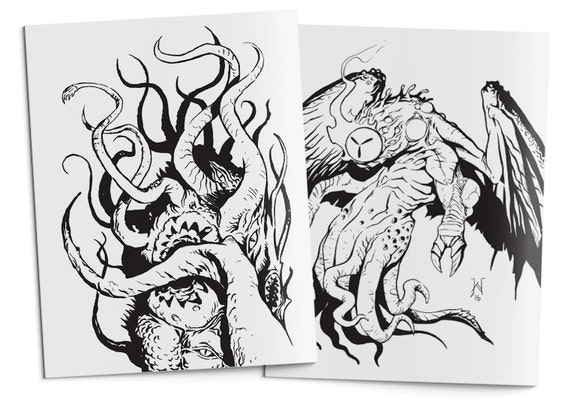The Colouring Book Out of Space: A Lovecraft Inspired Adult