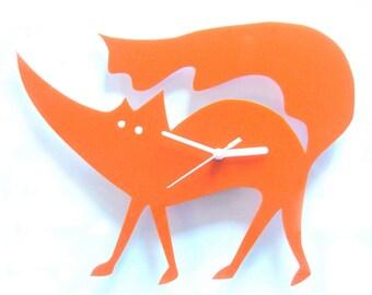 Matthew the Fox orange acrylic clock   (the very last one)
