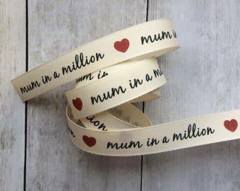 Mum Heart Ribbon