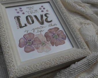 Love Scripture, Bible Verse Painting