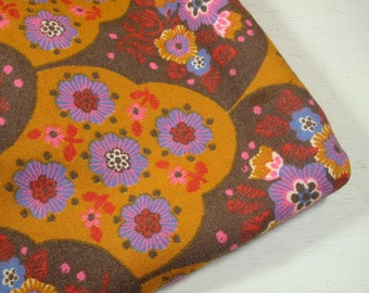 Vintage bunten Stoff, Retro-Look, braun, lila, Orange, 1 1/2 Yards (358-11)