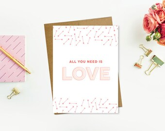All You Need Is Love Printable Card