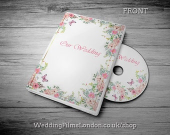 """Custom CD DVD Box, Personalised dvd Case - Wedding CD dvd Music Video Wedding Photographs dvd/cd Case, Cover and Disc. Printed Disc. """"N2"""""""