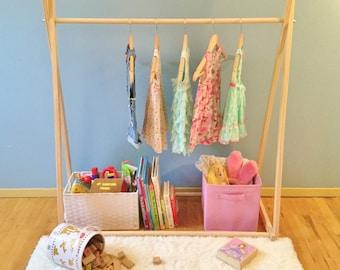 Kids clothes rack | Etsy