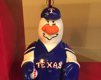 MLB Baseball Ornaments- Texas Rangers featured
