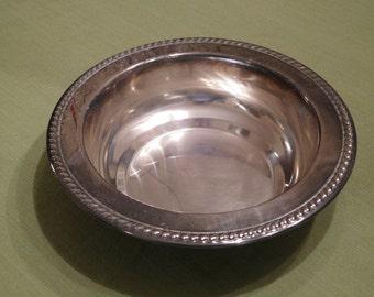 Shallow Circle Bowl - Silverplate