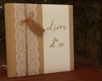 Guestbook range: wedding lace.