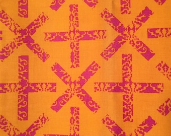 X and Plus in Yellow from Field Day by Alison Glass for Andover Fabrics