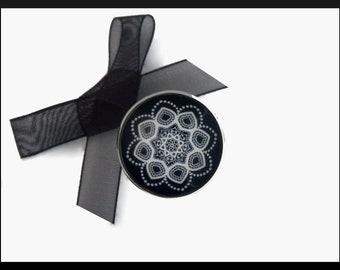 Black Mandala ring