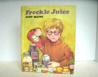 Freckle Juice, Judy Bloom, Vintage 1970s Weekly Reader Book, 1971