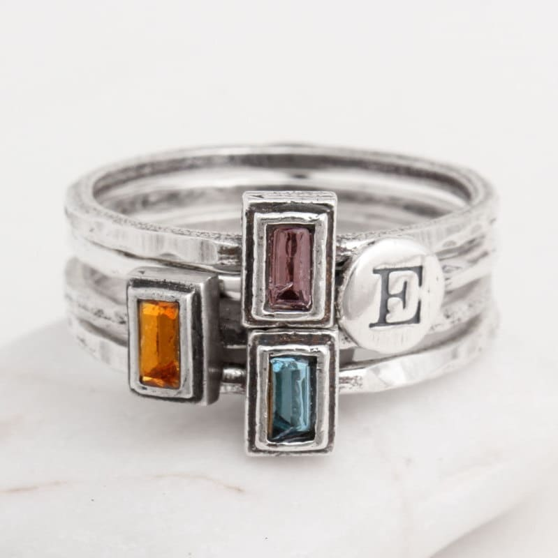 Design Your Own Ring: Stackable Rings. Design Your Own Silver Stack Birthstone