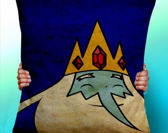 Adventure Time Ice King - Cushion / Pillow Cover / Panel / Fabric