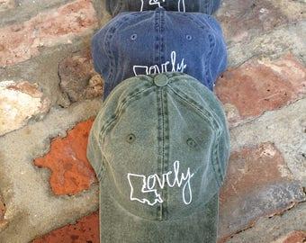 Hey, Penelope LOVELY Vintage Wash Embroidered Hat
