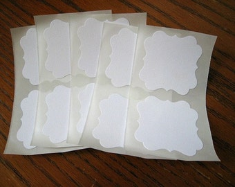 White Labels Square Bracket Stickers