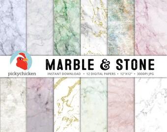 Marble Digital Paper - Gold Marble Digital Paper - stone, granite, pink, green, blue, gray, pastel, purple photography backdrop 8070
