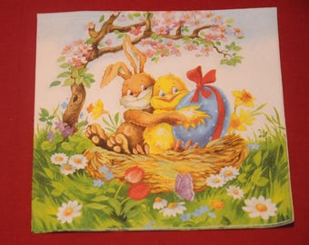 "theme ""Happy Easter"" Easter napkin"