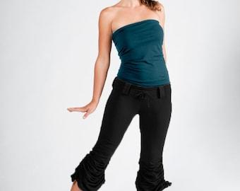 Cinchy Pants-Womens bottoms-sexy black pants-unique womens pants-womens trousers-black capri-womens fashion-pixie fashion-dance capri-tribal