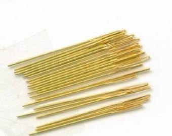 Cross Stitch Gold Plated Needles , Size 28 Embroidery Needles ,Blunt Ended Sewing  Needles, Gold Plated
