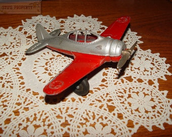 "Vintage Hubley Die-cast 6"" Kiddie Toy, w/folding wheels Us Army Plane"