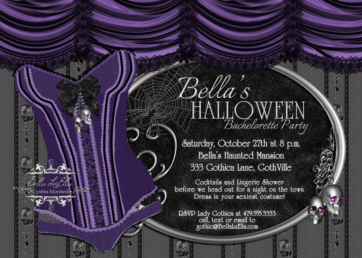 Halloween Bachelorette Party Gothic Bachelorette Invitation