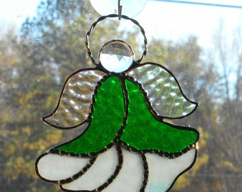 Stained Glass Angel Ornament/Suncatcher - Handcrafted in Tennessee