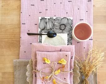 Kit of 2 baby nappies printed or towel