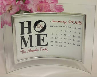 2018 Calendar, 2018 Desk Calendar with photoframe, Personalized 2018 Calendar, Gift for her, Birthday gift, Housewarming gift