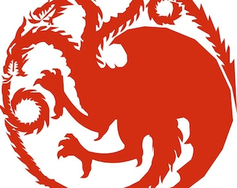 Targaryen Sigil - Embroidery file